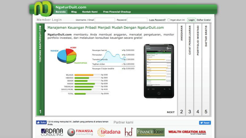 NgaturDuit | Screenshot