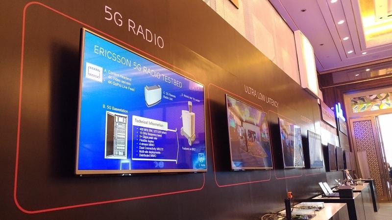 Ilustrasi pameran jaringan 5G
