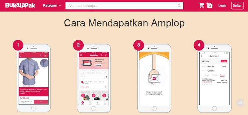Program BERBUKA dapat Amplop Bukalapak | Screenshot