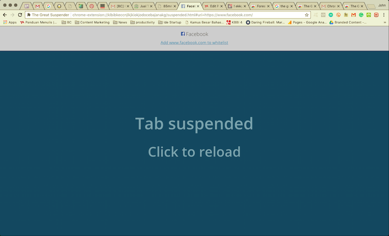 Chrome Extension - The Great Suspender