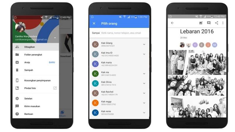 Berbagi Album Google Photos | Screenshot