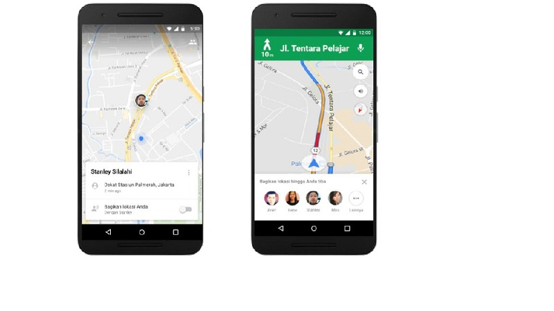 Fitur berbagi lokasi Google Maps |Screenshot