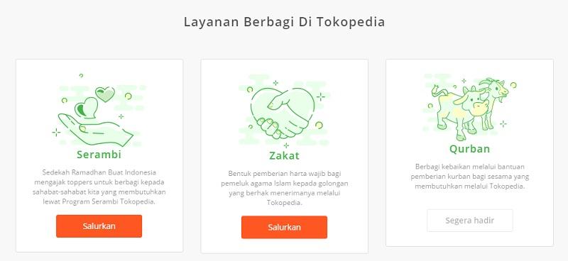 Layanan Berbagi Tokopedia | Screenshot