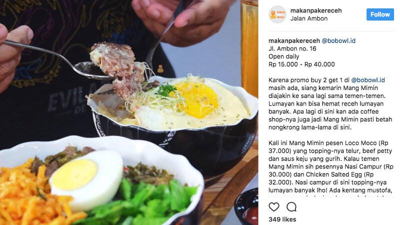 Instagram | Makan Pake Receh