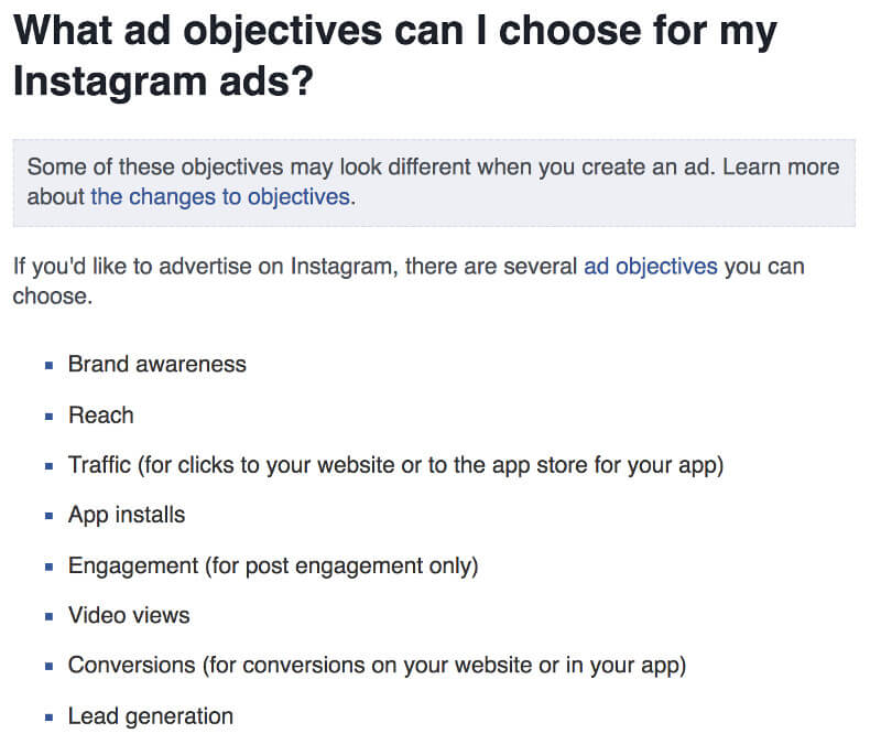Instagram | Objectives