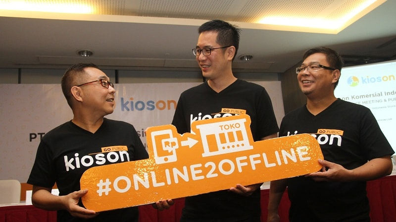 (Kiri ke kanan): Direktur Utama dan co-founder Kioson, Jasin Halim; Komisaris dan founder Kioson, Roby Tan; Direktur Keuangan Kioson, Setiawan Parikesit Kencana.