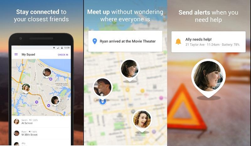 Kumpulan aplikasi untuk memantau lokasi orang terkasih