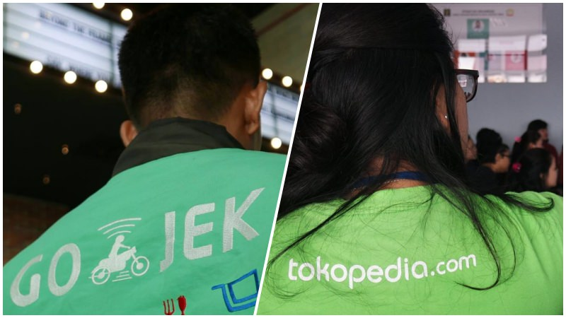 GO-JEK vs Tokopedia | Collage