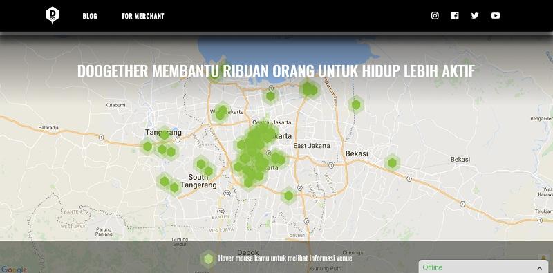 Tampilan situs Doogether | Screenshot