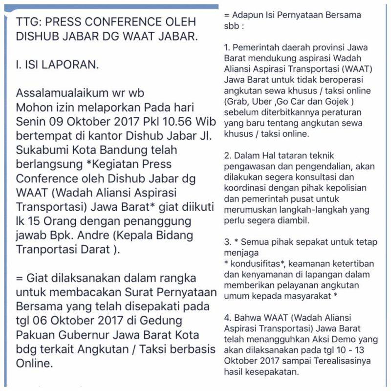 Transportasi Online Jawa Barat