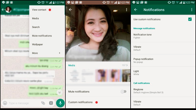 Tricks Using WhatsApp |  Custom notif