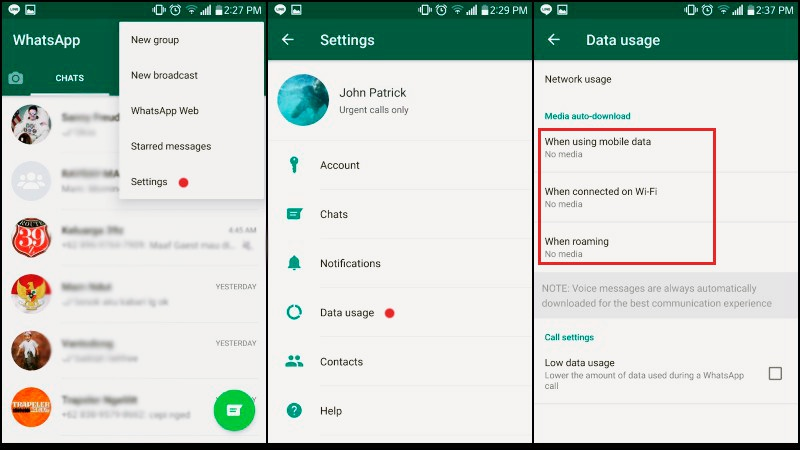 Tricks Using WhatsApp |  Save data
