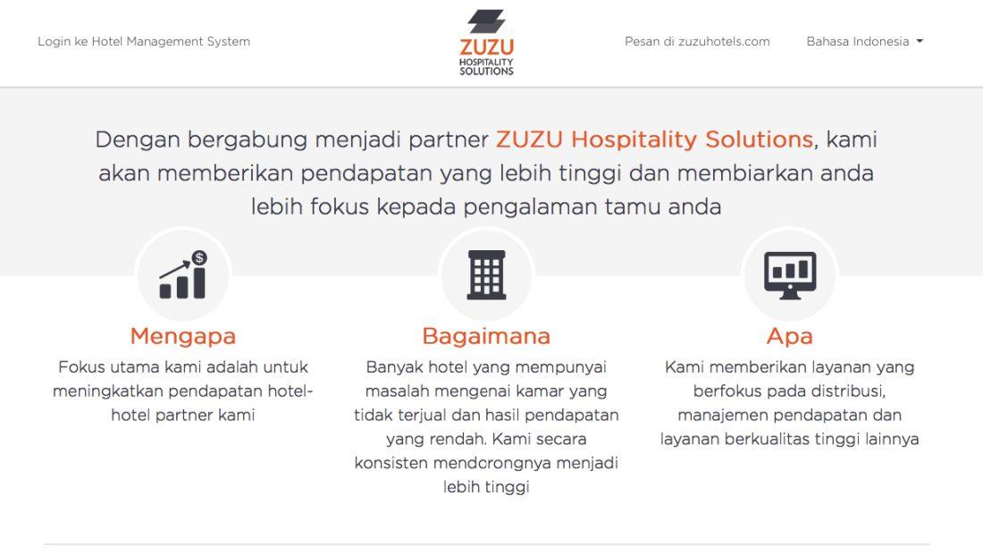 Zuzu Hospitality Solutions | Screenshot