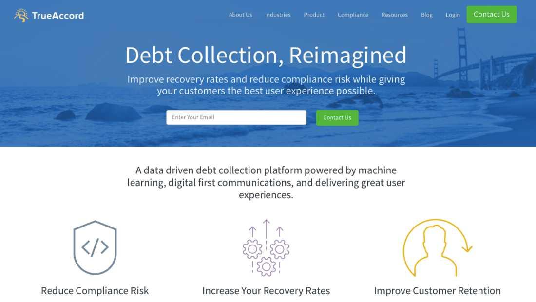 Ide Bisnis Startup TrueAccord | Screenshot