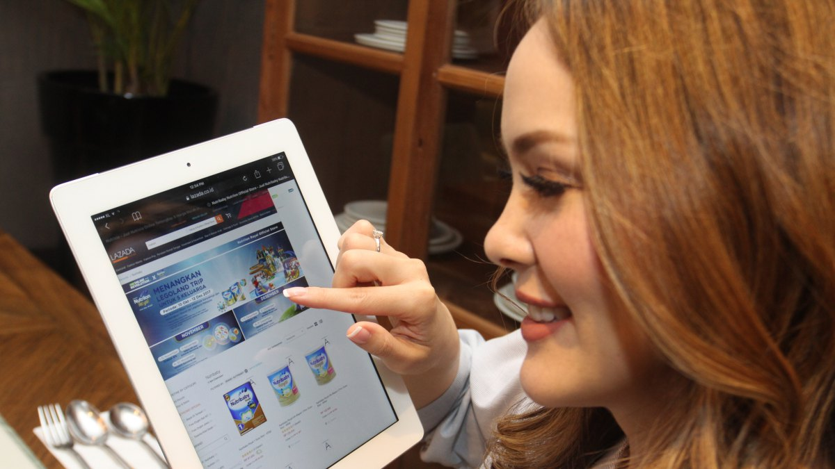 Tampilan produk Nutricia Sarihusada di platform e-commerce Lazada