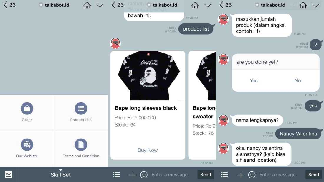 Talkabot | Screenshot