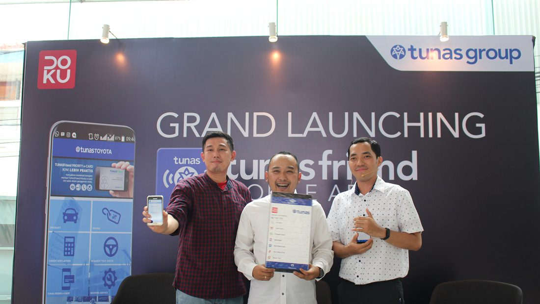 Kiri ke kanan: VP Merchant Business DOKU; Irfan Burhan; Marketing Communication Section Head Tunas Group, Rahmanda Rizki Pratama; Marketing & Busdev Tunas Group, Dannan Dwiyan.