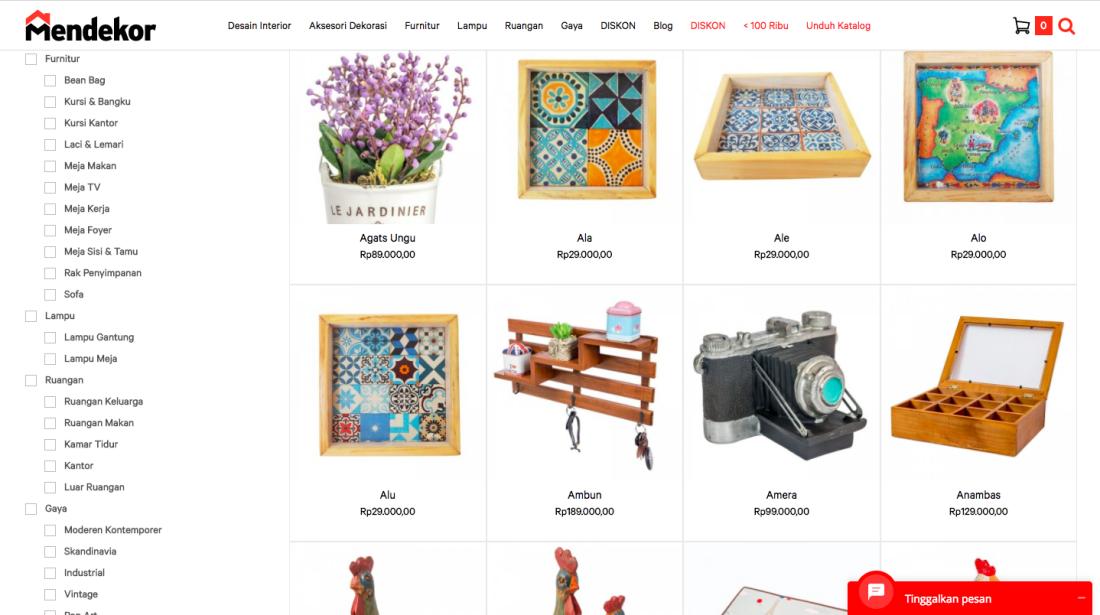 Situs Mendekor - Screenshot