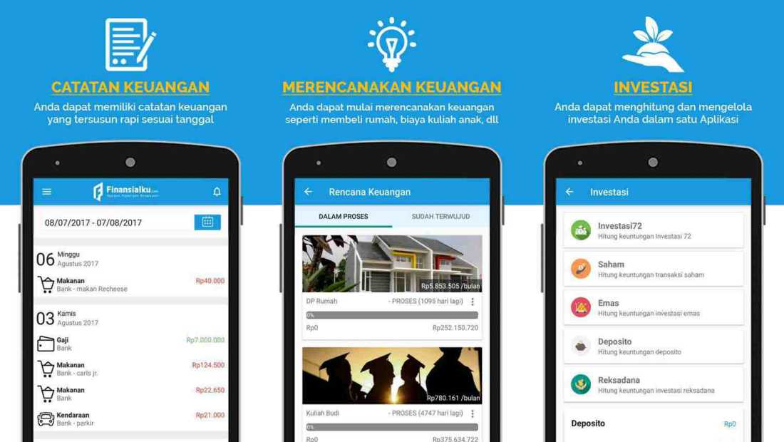 Finansialku Aplikasi | Screenshot