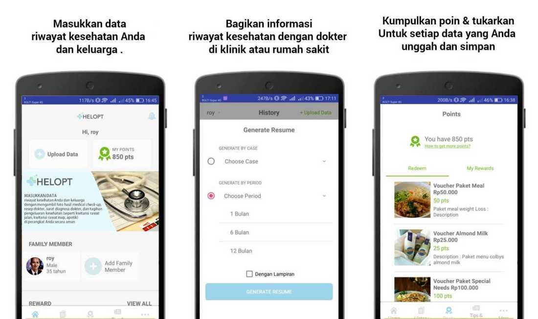 Helopt | Screenshot Aplikasi