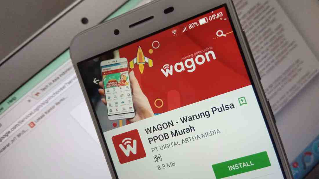 Tampilan aplikasi Wagon dari DAM Corp | Photo