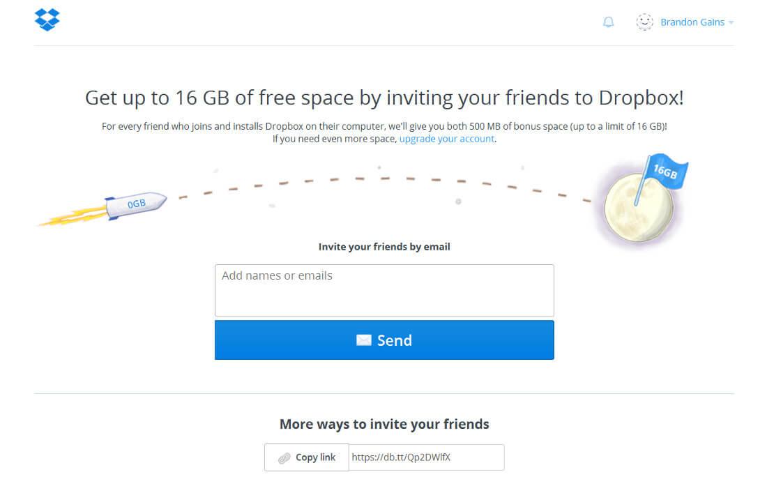 Dropbox | Screenshot 1