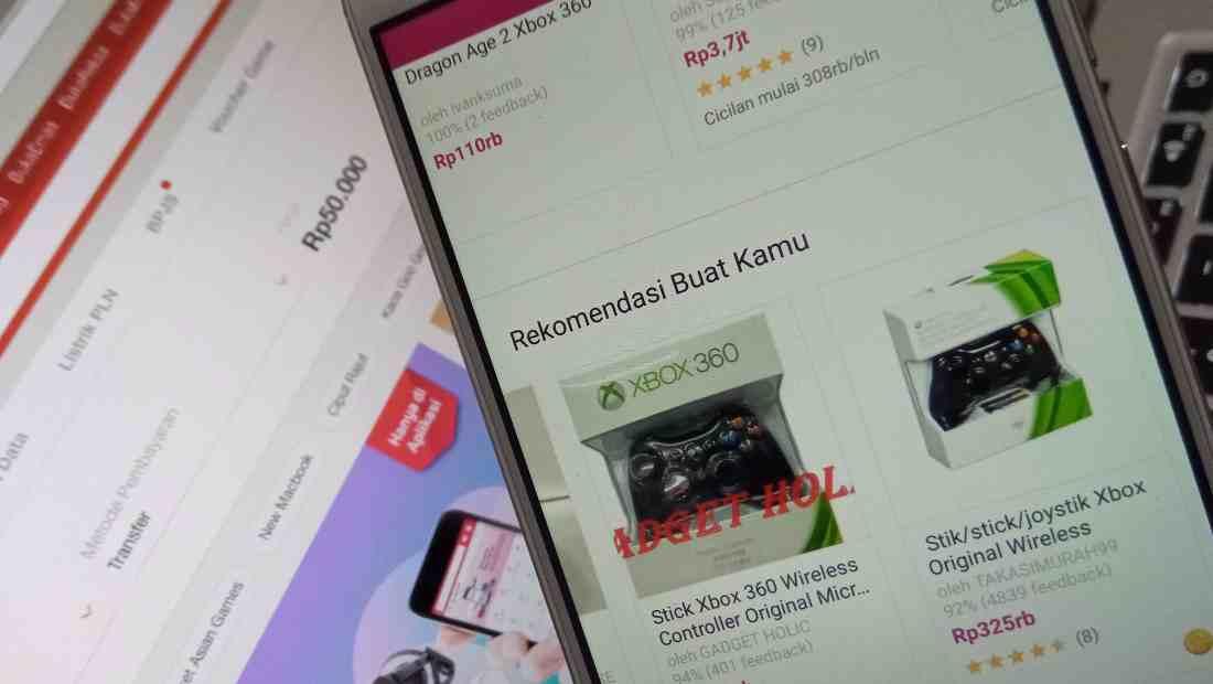 Contoh tampilan rekomendasi produk di Bukalapak yang menggunakan AI | Photo