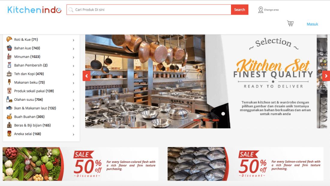 5 Startup E-commerce di TIAJKT2018|Kitchenindo