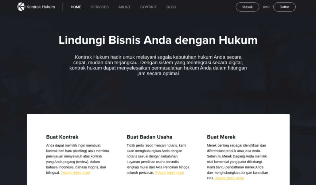KontrakHukum | Screenshot