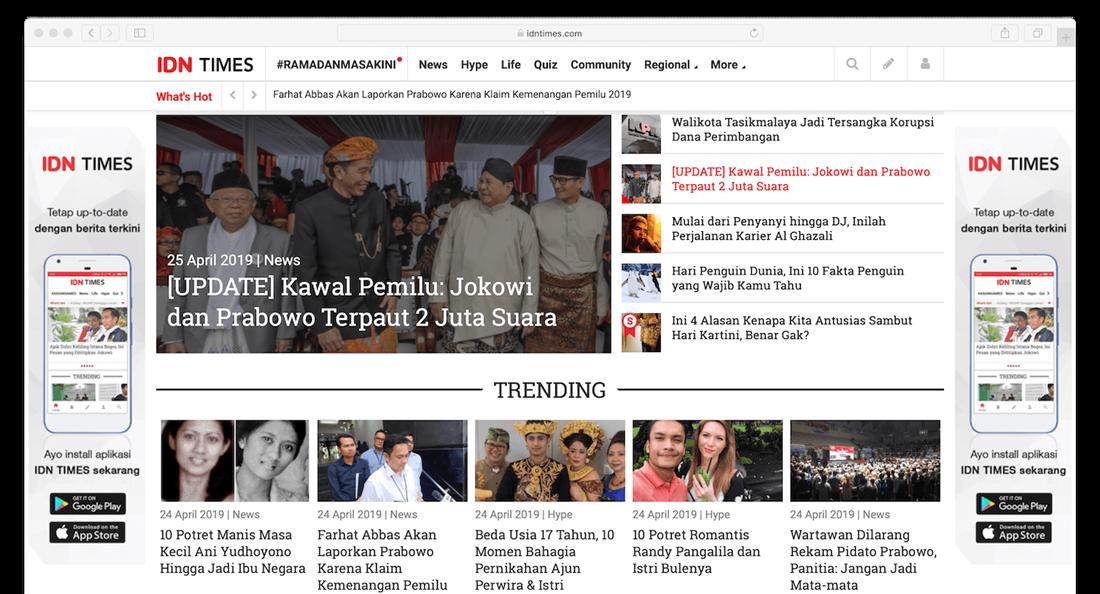 Homepage IDN Times